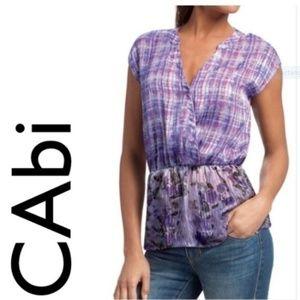 Cabi Purple Sleeveless Shirt V Neck Size M